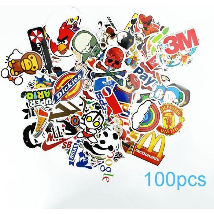 STICKERS  100pcs Sticker Autocollants pour Vélo voiture mur