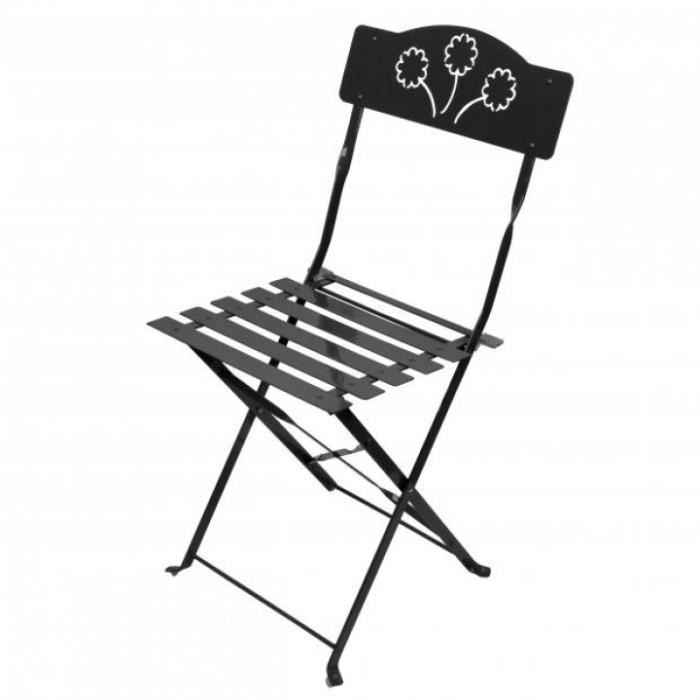 chaise bistrot pliante bois metal. Black Bedroom Furniture Sets. Home Design Ideas