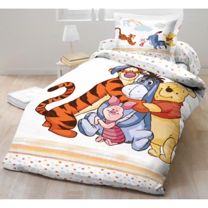 Parure de lit Winnie L\'ourson Disney 100% coton - Achat ...