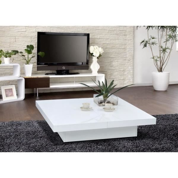 Table basse bar gloss achat vente table basse table - Table basse bar blanche ...