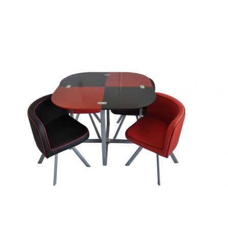 louss rouge et noire achat vente table a manger. Black Bedroom Furniture Sets. Home Design Ideas
