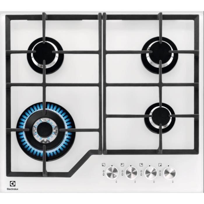 PLAQUE GAZ Electrolux - table de cuisson gaz 59cm 4 feux 8900