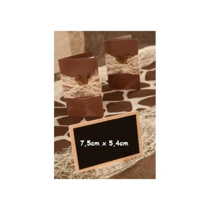 SODIAL 50 Mini Tableau Noir Bois Message Rectangle Ardoise A Pince Clip Carte Panneau Memos Etiquette Prix Marque Place Numero Table