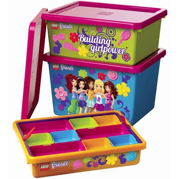 boites de rangement lego friends vertes achat vente. Black Bedroom Furniture Sets. Home Design Ideas