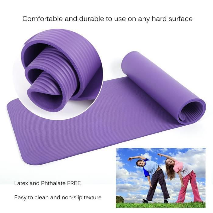 3 mm épais Yoga Exercice Tapis Antidérapant Gym Fitness Pilates Physio Mousse Camping