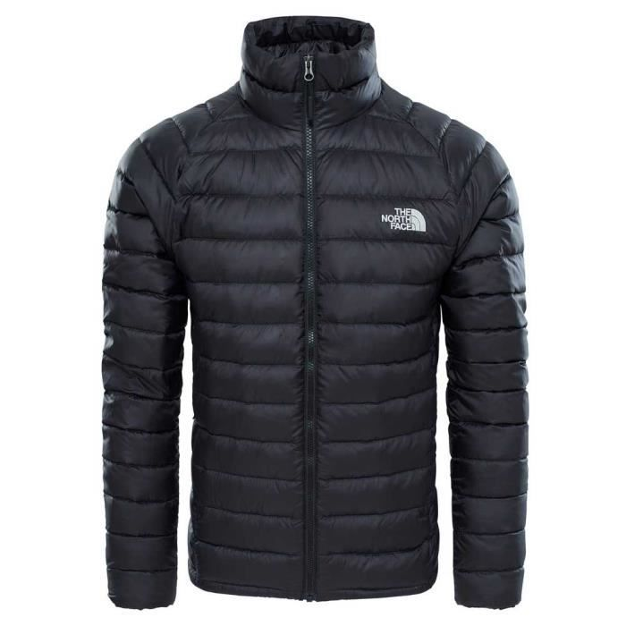 v tements homme doudounes the north face trevail noir noir achat vente doudoune de sport. Black Bedroom Furniture Sets. Home Design Ideas