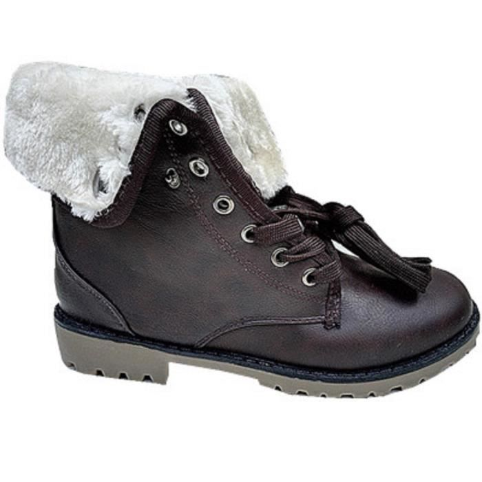 Boot Fashionfolie888 Chaud e Marron Fourr Mode Fille Montantes Femme Bottines Baskets Boots An1881 gwg6FvZq