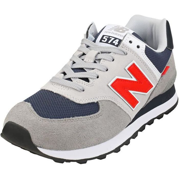 Baskets - New Balance - 574 - Homme - Gris Rouge