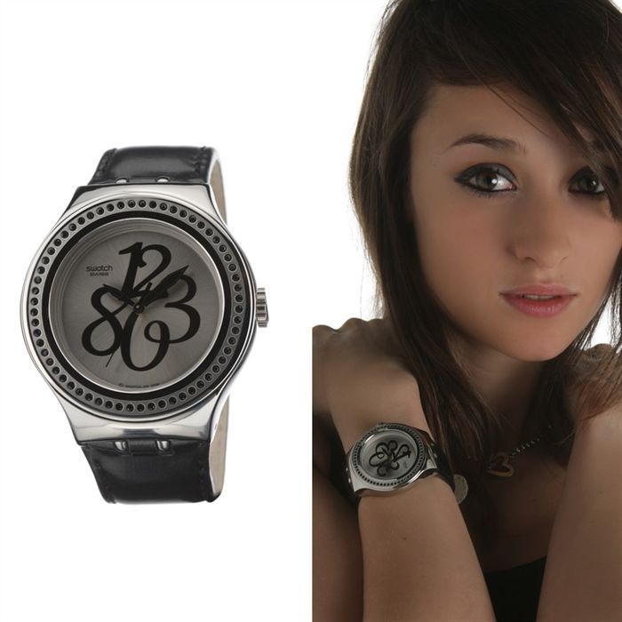 swatch irony pearly gloss black montre femme achat vente montre cdiscount. Black Bedroom Furniture Sets. Home Design Ideas