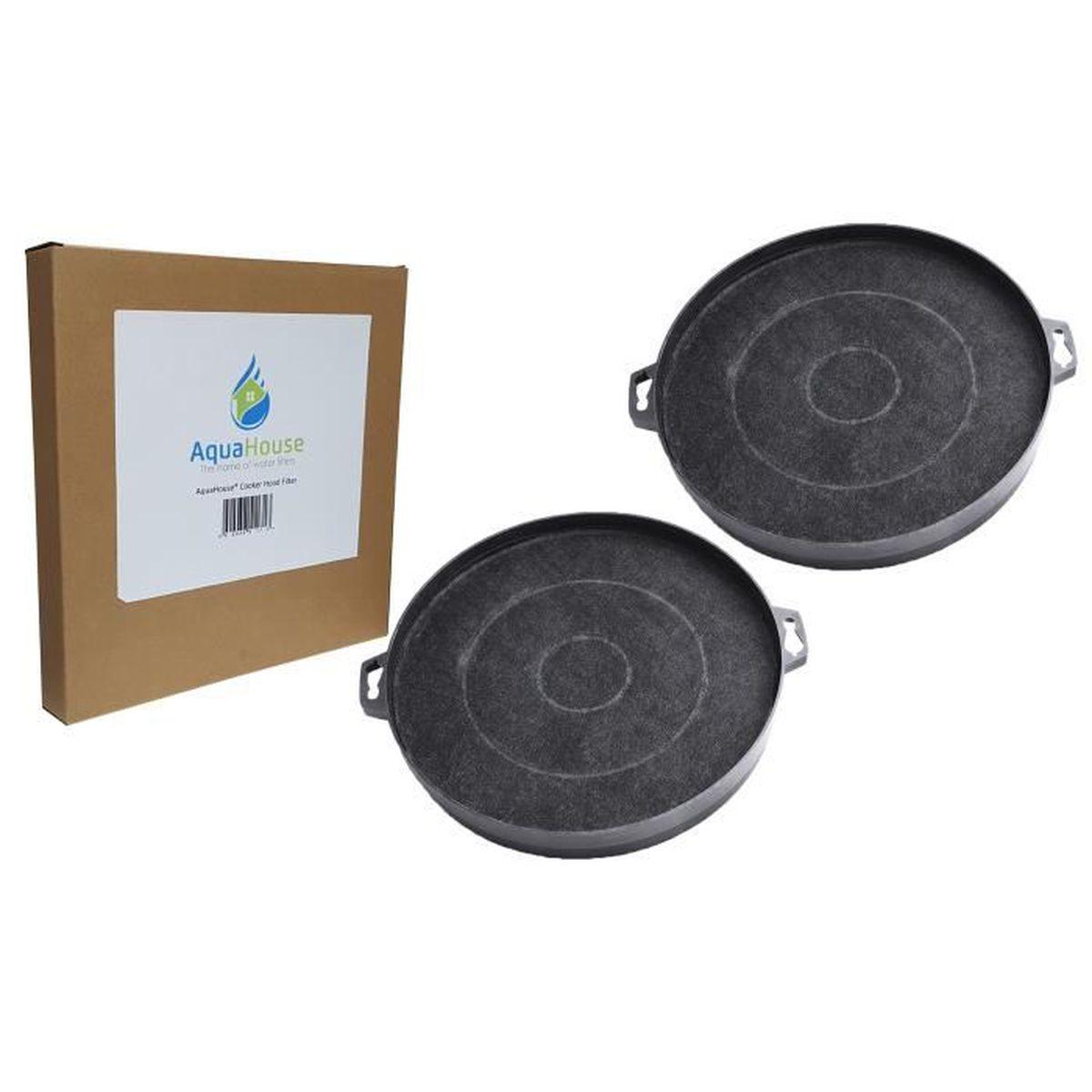 4x AquaHouse Filtre /à charbon pour hotte CATA Moffat MCH665 MCH665X 210mm Hygena