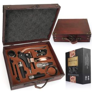 COFFRET SOMMELIER Coffret pour vin en bois avec  kit d'ouvre-bouteil