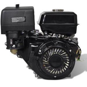 MOTEUR COMPLET Magnifique Moteur essence 15 HP 9,6 kW Noir Demarr