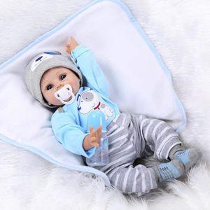 POUPÉE Poupée en Vinyle souple en silicone Reborn bébé 22