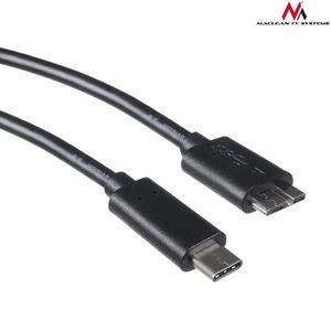 CÂBLE RÉSEAU  Câble USB Type-C vers Micro B mâle 1m Maclean MCTV