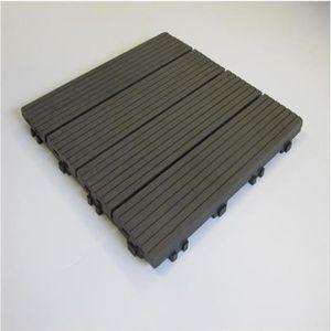 REVETEMENT EN PLANCHE Pack dalle de terrasse 1m² bois composite modular