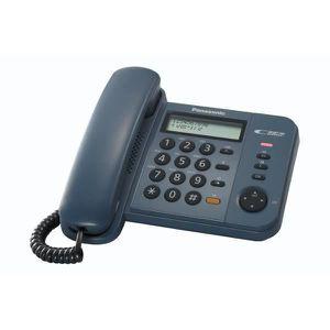 Téléphone fixe Panasonic KX-TS580, Téléphone DECT, 50 entrées, Bl