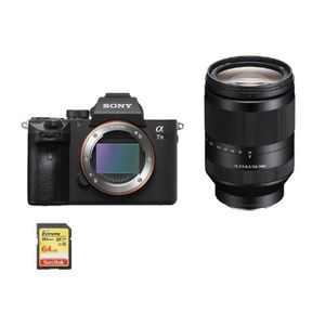 APPAREIL PHOTO RÉFLEX SONY A7 III + SEL 24-240MM F3.5-6.3 OSS + 64GB SD