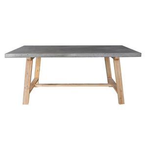 Table a manger bois et beton achat vente table a for Table a manger beton