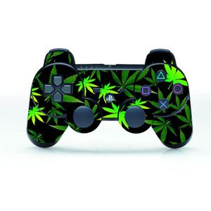 STICKER - SKIN CONSOLE Green Leaf Couverture de peau autocollant pour PS3