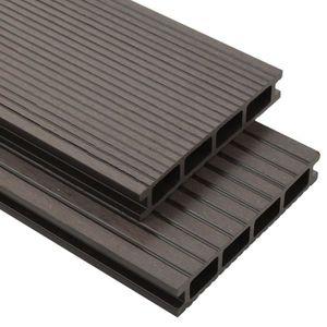 FAUTEUIL vidaXL Panneaux de terrasse creux WPC 10 m² 2,2 m