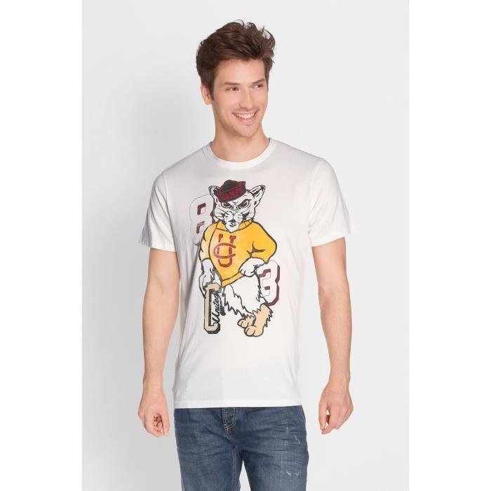 CAMPS T-shirt Manches Courtes - Homme - Beige écru