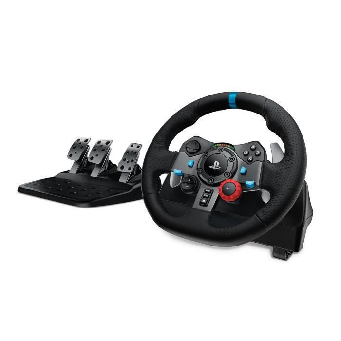 logitech volant de course g29 driving force ps4 et pc prix pas cher cdiscount. Black Bedroom Furniture Sets. Home Design Ideas
