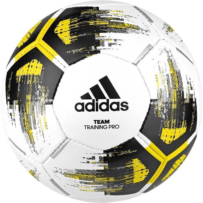 Ballon adidas Team Training Pro - blanc-jaune-noir - Taille 4