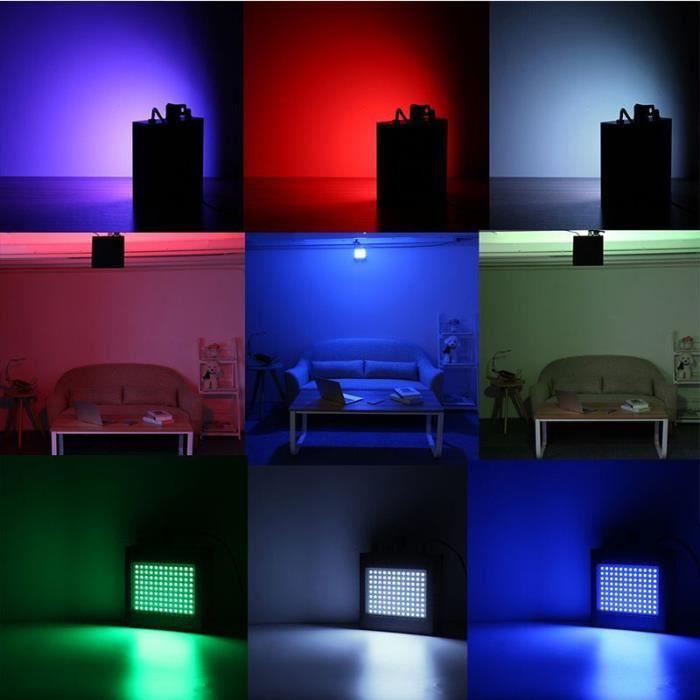 25W Stroboscope LED avec Télécommande Lampe de Scène 108 RGB Strobe LED Disco Spot Projecteur Effet DJ 220V
