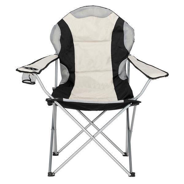 Chaises de Camping pliables avec Porte Gobelet et Housse Sac de Transport Gris 2PCS