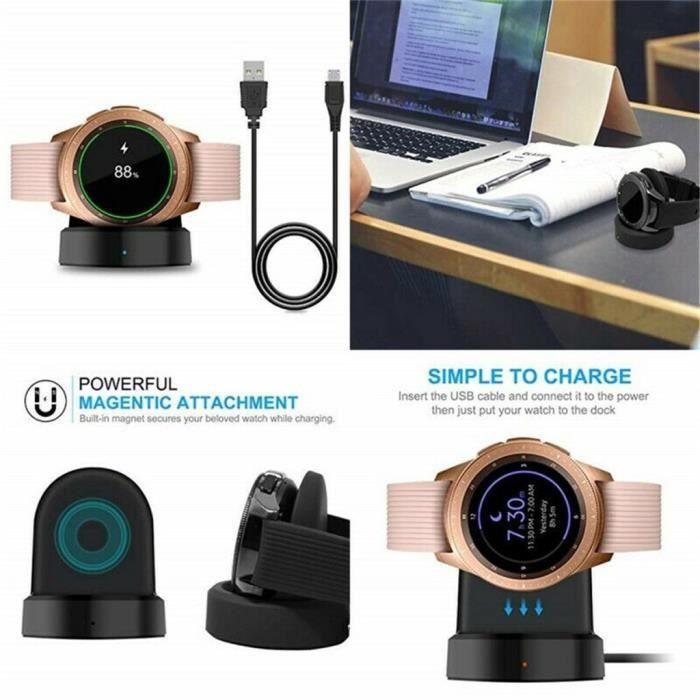 MONTRE OUTDOOR Pour Samsung Galaxy Watch SM-R815 - R800 - R810 Dock de chargement de chargeur rapide sans fil bg1452 SDF1452