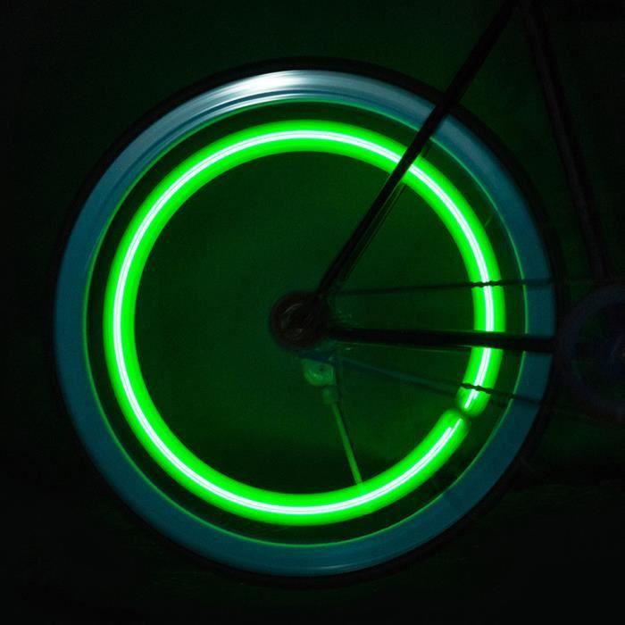 4 LED Roues de vélo de vélo imperméable à l'eau Pneus Lampe Riding Feux d'avertissement Lumière de vélo 664