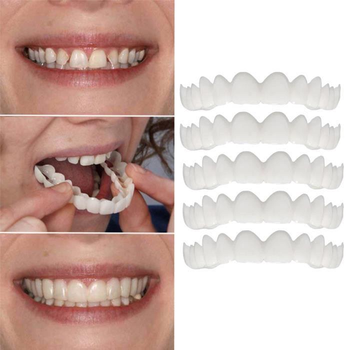 5pc temporaire sourire confort fit cosmétique dents dentier dents top cosmétique placage ZZP80726822 COFFRET PRODUITS DENTAIRES