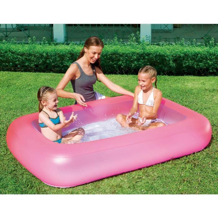 Piscine rectangulaire gonflable enfant bébé Piscine sur le sol Jardin baignoire gonflable bébé Piscine enfant petit 165*104*25cm