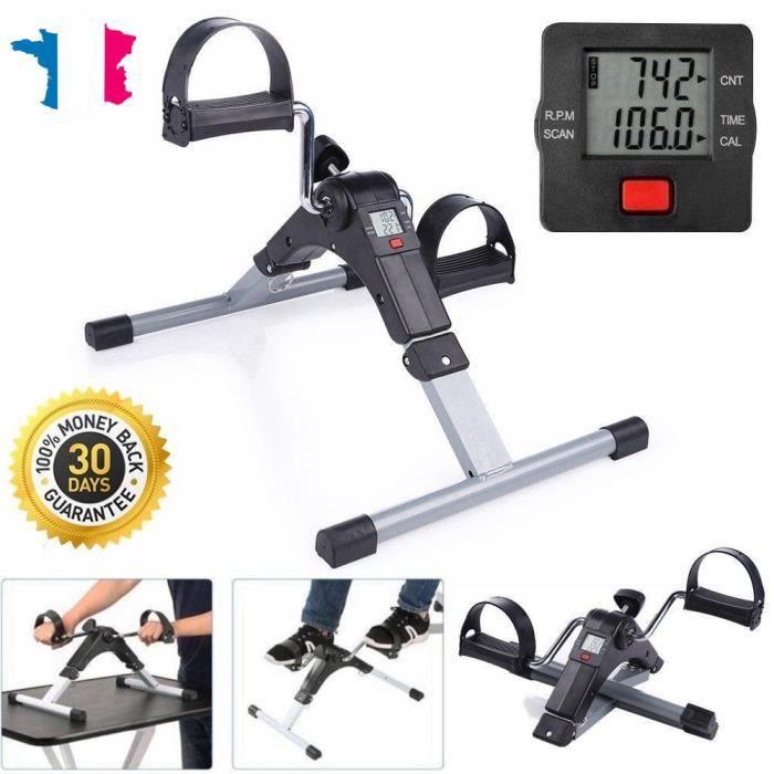 NEUF Pédalier, Mini Vélo d'Appartement à Pédale Pliable Trainer Fitness des Bras et Jambes LCD