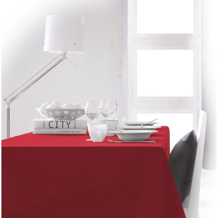 TODAY Nappe rectangulaire 140x200 cm - Rouge pomme d'amour