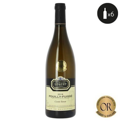 6 bouteilles - Vin blanc - Tranquille - Domaine LUQUET Depuis 1878 Cuvée Terroir Pouilly-Fuissé Blanc 2018 6x75cl