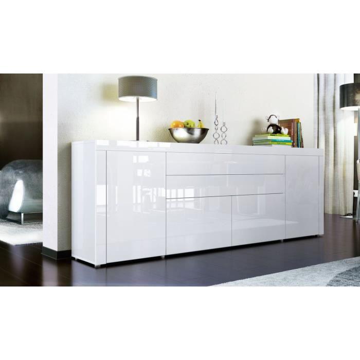 Buffet enfilade blanc 200 cm