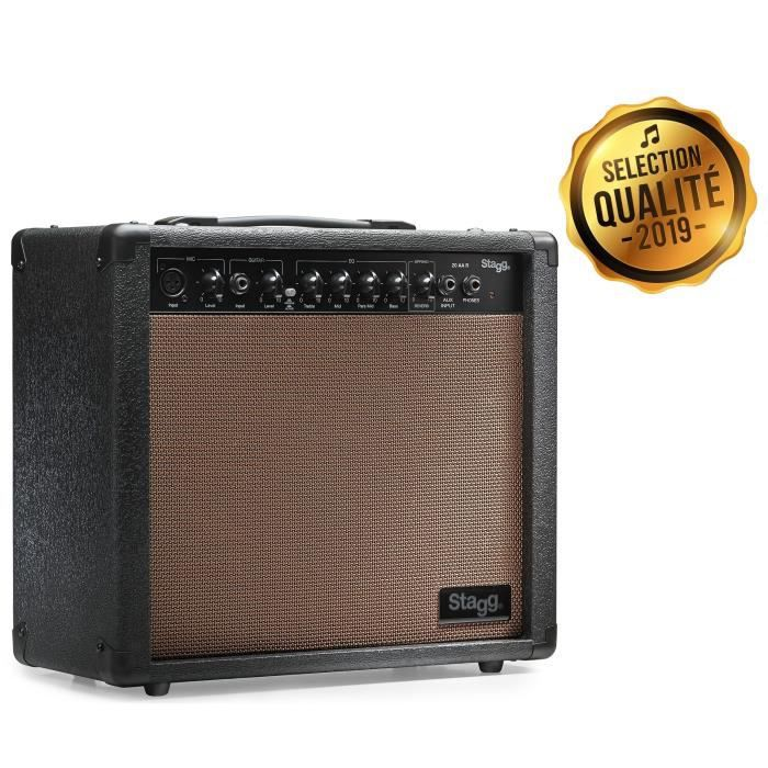 STAGG Amplis Guitare 20 AA R EU Acoustique Reverb (20 Watts)