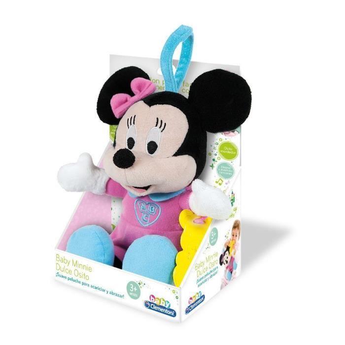 Clementoni 65978. Minnie Mouse. Peluche, embrasse et apprends