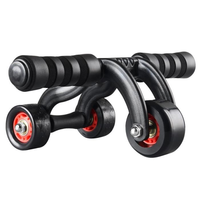 Abdos Roue Abdominale Exercices Muscle Resistante Efficace Avec Tapis De Mousse pour Exercices, Body Fitness Musculation