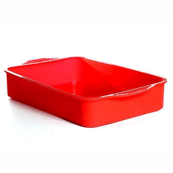 Plat à gratins et lasagnes en silicone - Rouge