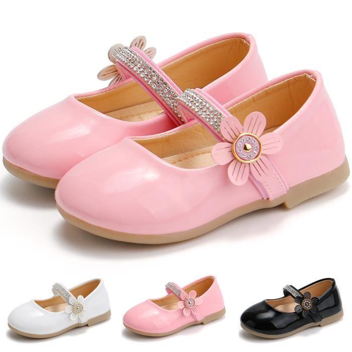 Chaussures de princesse pour fille tout-petit bébé enfants bébé fleurs sandales simples chaussures blanc 6277