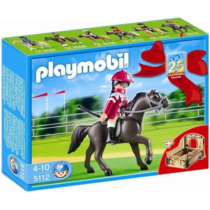 PLAYMOBIL 5112 Pur-Sang Arabe & Jockey