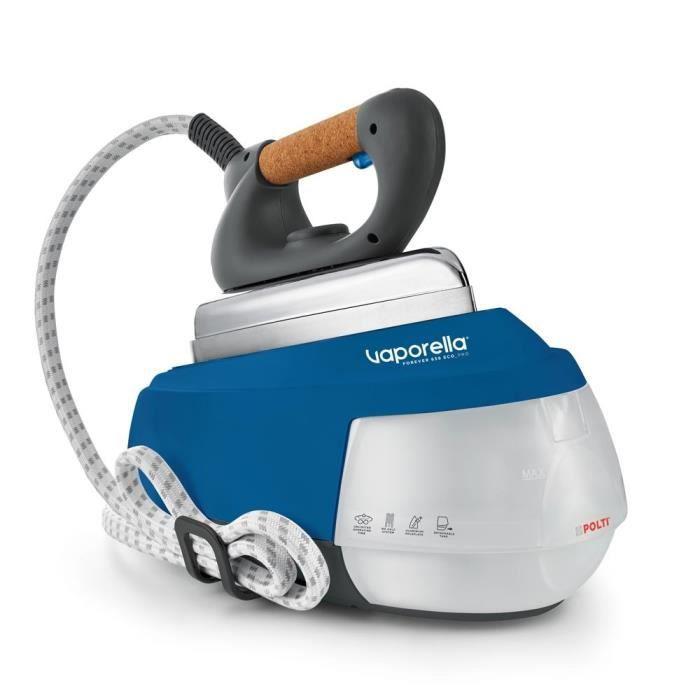 Polti Vaporella Forever 658 Eco_Pro, 2150 W, 8 bar, 0,7 L, 110 g-min, Semelle en aluminium, Bleu, Blanc