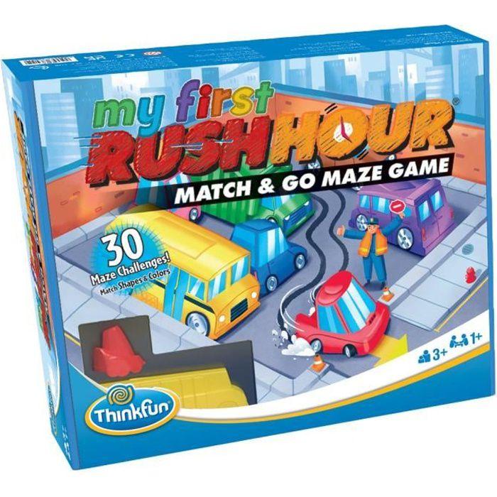 Rush Hour My First - Ravensburger - Casse-tête Think Fun - 30 défis 3 niveaux - Dès 3 ans - Français inclus