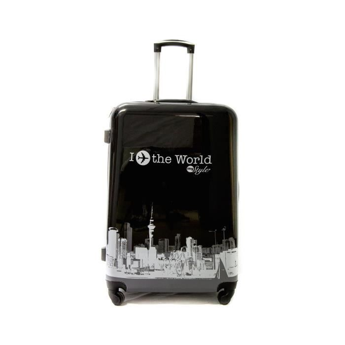 Valise Grande Taille Trolley ADC -World- Noir