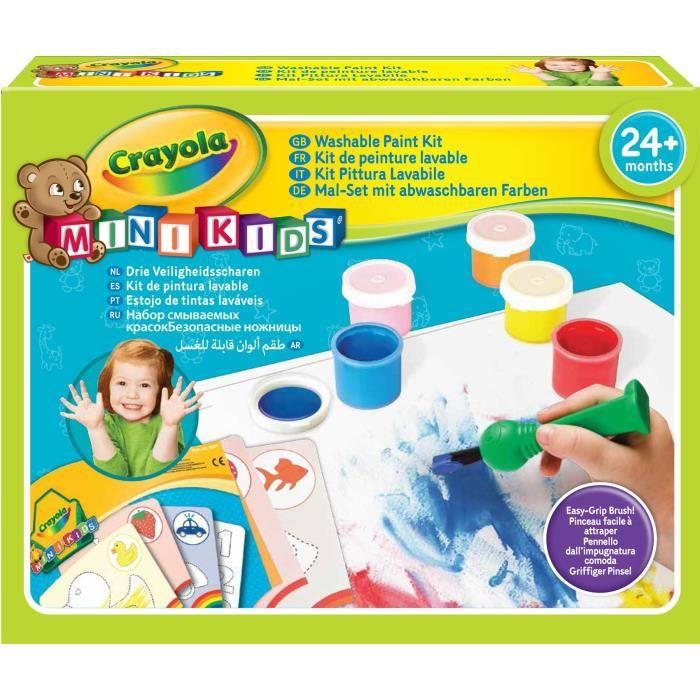 Crayola - Mini Kids - Mon 1er kit de peinture - Coloriage pour enfant et tout petit