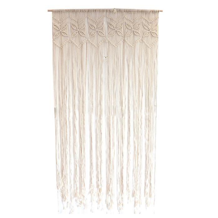 95 x 180 cm rideau coton tissé tapisserie macramé décoration murale décorations pour la maison pour appartement PANNEAU JAPONAIS