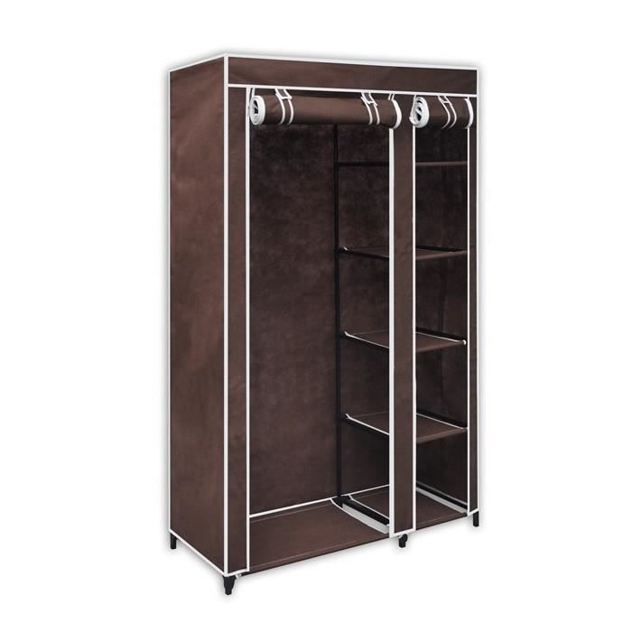 armoire de rangement en tissu marron 1 achat vente. Black Bedroom Furniture Sets. Home Design Ideas