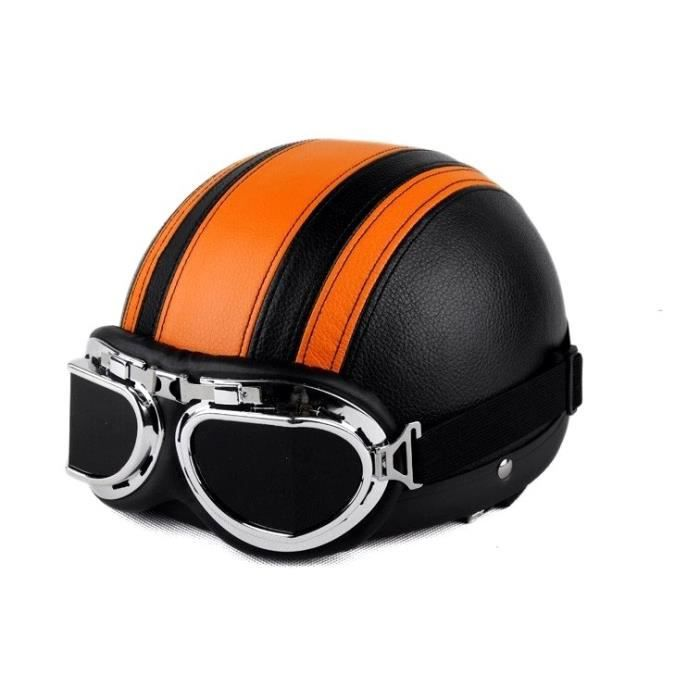 casque bol vintage moto scooter vespa lunettes aviateur tu achat vente casque. Black Bedroom Furniture Sets. Home Design Ideas